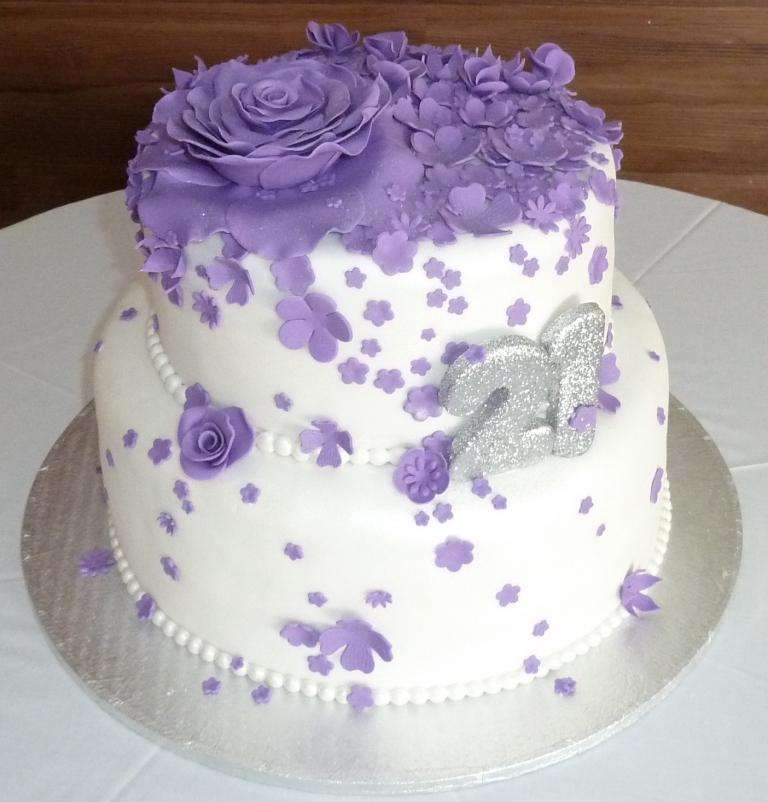 Images Of Purple Birthday Cake : Purple 21st Birthday Cake www.imgkid.com - The Image Kid ...